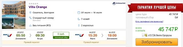 рекомендуемые отели в Болгарии Villa Orange