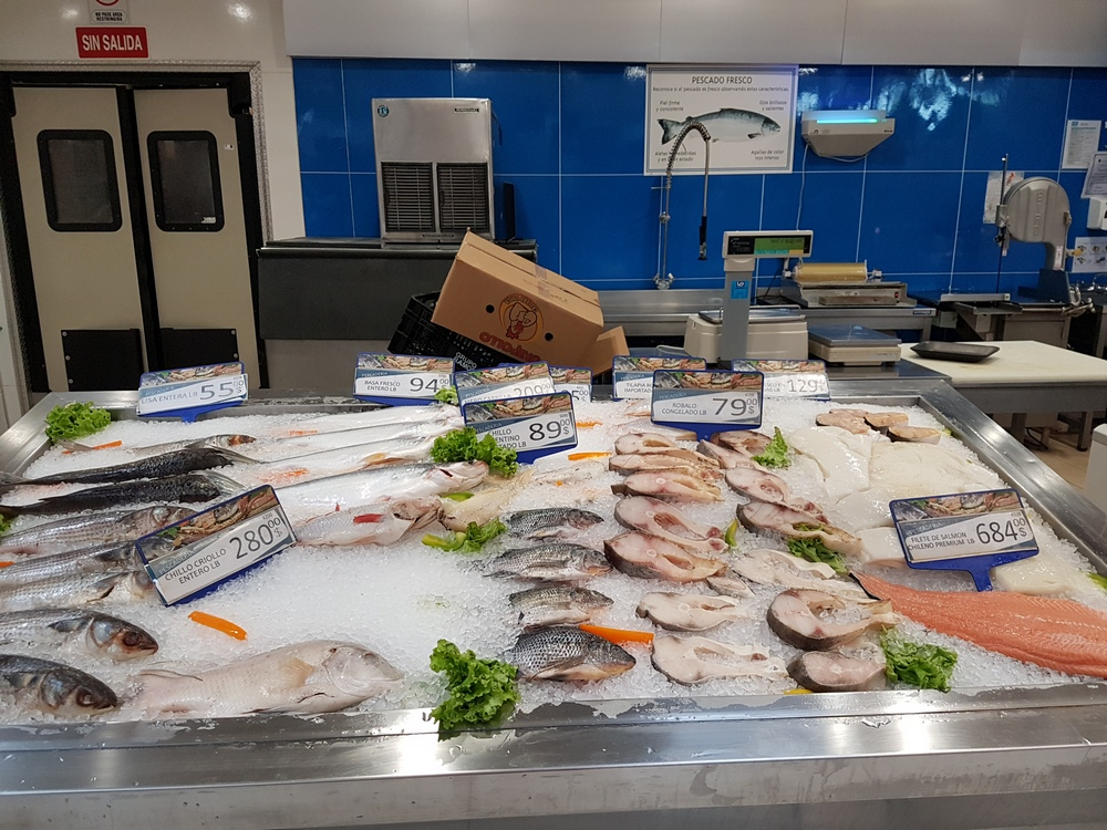 морепродукты в магазине