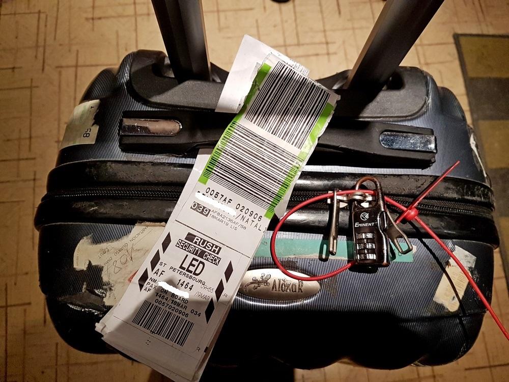 Air France доставил потерянный багаж