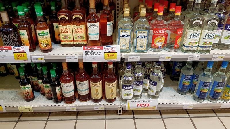 цены на ром на Мартинике