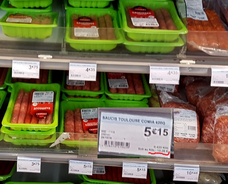 цены на мясные полуфабрикаты на Мартинике